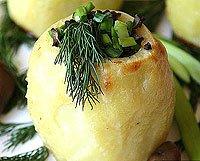 Картопля, фарширована грибами