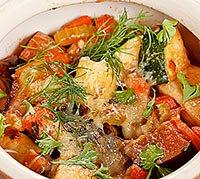 Великодні святкові страви: М'ясо в горщиках. Гречана каша з м'ясом
