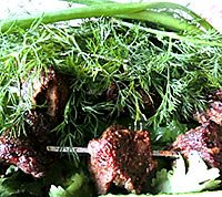Шашлик з яловичини в духовці