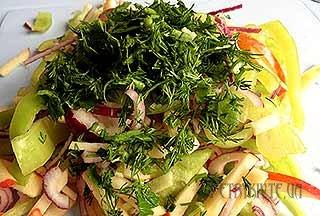 Вітамінний салат з болгарським перцем