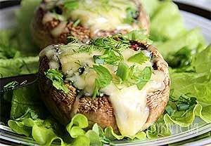 Гриби  фаршировані овочами