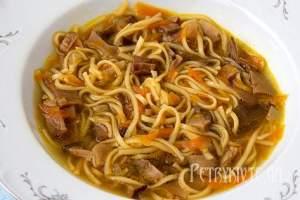 Суп з білих грибів в мультиварці