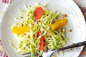 Салат з капусти і цитрусами