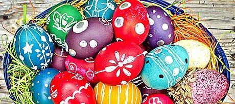 10 способів фарбування пасхальних яєць.